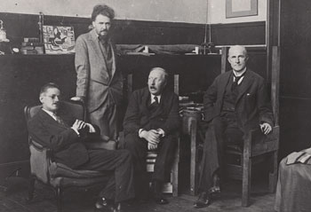 James Joyce, Ezra Pound, Ford Madox Ford and John Quinn.