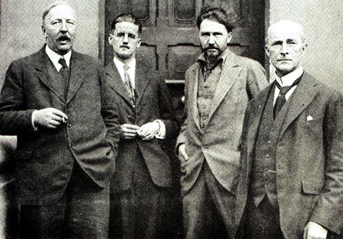 Ford Madox Ford, James Joyce, Ezra Pound y John Quinn